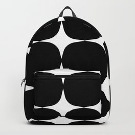 Retro '50s Shapes in Black and White Backpack
