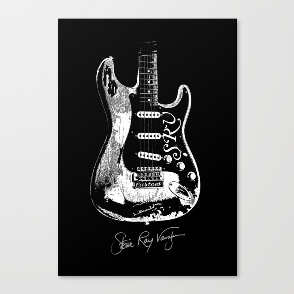 Stevie Ray Vaughan - Guitar-blues-rock-legend Canvas Print by Amadeumarques CNV8720501