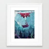 mermaid Framed Art Prints featuring Mermaid by Serena Rocca