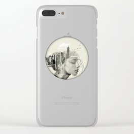 New York City reflection Clear iPhone Case