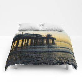 Paignton Pier At Sunrise Comforters