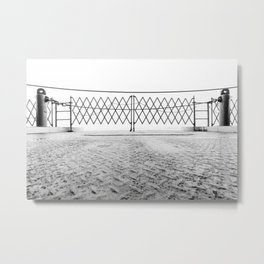 Ferry Fence Metal Print