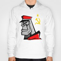 russia Hoodies featuring For Russia by Dangerous Monkey