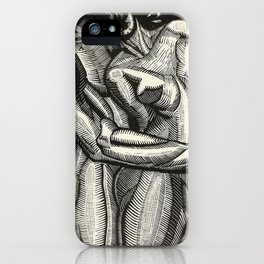 Embrace, Engraving from Song of Solomon 1929 by Cecil Buller iPhone Case