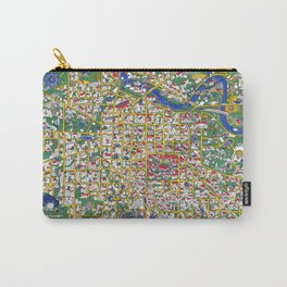 ANN ARBOR University map MICHIGAN dorm Carry-All Pouch