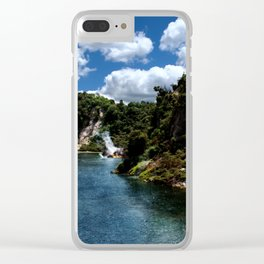 Frying Pan Lake, New Zealand Landscape Clear iPhone Case