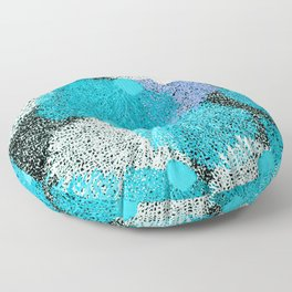 Coral Sea Pattern     Bright Blue + Violet Floor Pillow
