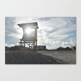 Sunlight Through Lifeguard Tower / Wrightsville Beach, NC Canvas Print