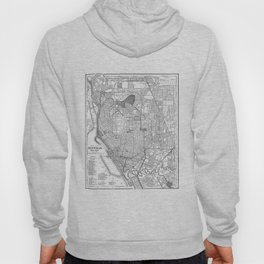 Vintage Map of Buffalo New York (1891) BW Hoody