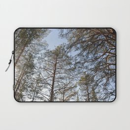 Spring sunny view of taiga forest Laptop Sleeve