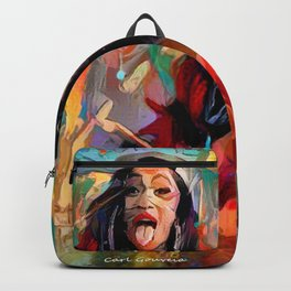 Cardi B Abstract art Backpack