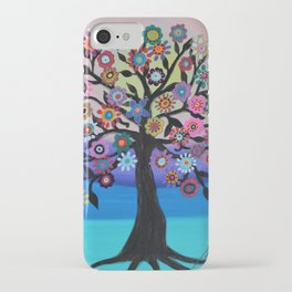 Whimsical Blooming Love Tree of Life Painting iPhone Case