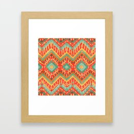itzel - orange + green Framed Art Print