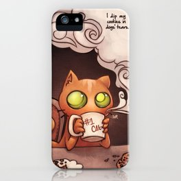 Cookies and cat iPhone Case