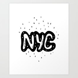 NYC lettering series: #1 Art Print