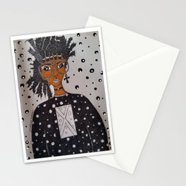 AFroGaLacTic Space Girl Stationery Cards