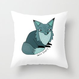 Soju Shots Fox Throw Pillow