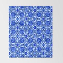 Sapphire Blue Star Throw Blanket