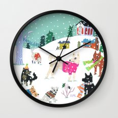 Winter Jindos Wall Clock