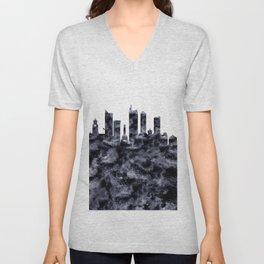 Manila Skyline Philippines Unisex V-Neck