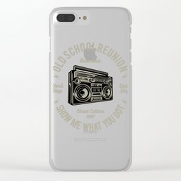 Boombox Street Culture Clear iPhone Case