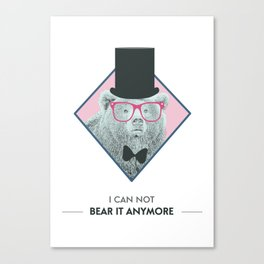 I can't bear it anymore Canvas Print