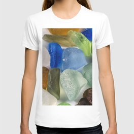 Colorful New England Beach Glass T-shirt