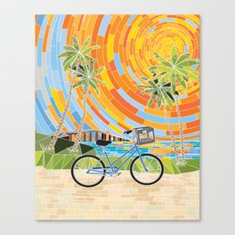 FL Keys Bicycle Canvas Print