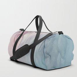 Calming Pastel Flow- Blush, grey and blue Duffle Bag