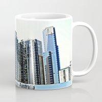 melbourne Mugs featuring Melbourne CBD by Chris' Landscape Images & Designs