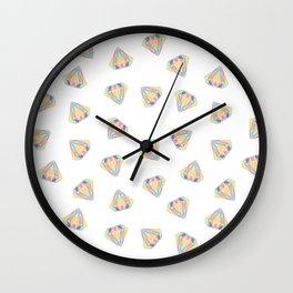 Colorful Diamonds Pattern - gemstones pattern Wall Clock