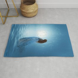 Walking in the light of freedom Rug