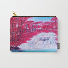 Crimson Cascade Carry-All Pouch