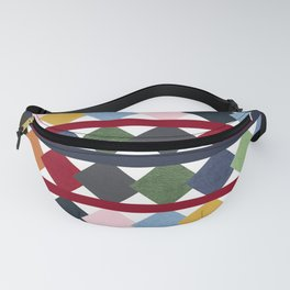 Rainbow Quilt Diamond Stripe Square Cottage Design Fanny Pack