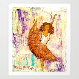 Ballerina No.1 (Tribute to Misty Copeland) Art Print