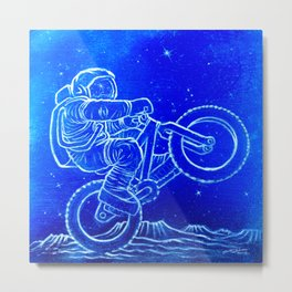 Astronaut Bicycle 1 Metal Print