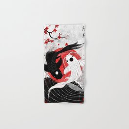 Koi fish - Yin Yang Hand & Bath Towel