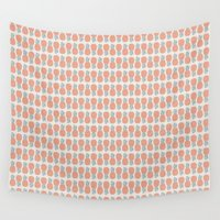 mandala Wall Tapestries featuring Pineapple  by basilique