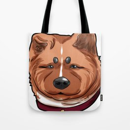 Akita Dog Doggie Puppy Present Comic Cartoon Tote Bag