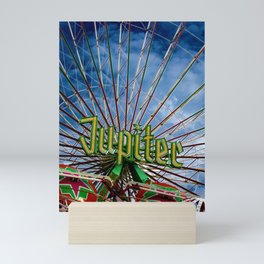 Ferris wheel at the funfair Mini Art Print
