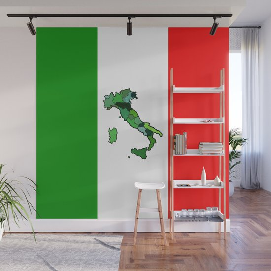 Map of Italy and Italian Flag by judgeart