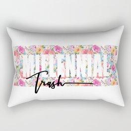 Millennial Trash Rectangular Pillow