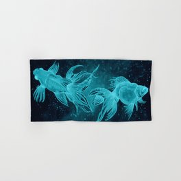 Goldfishes at night Hand & Bath Towel