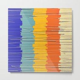 Shredded Stripes Metal Print
