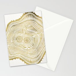 Peachleaf Willow – Gold Tree Rings Stationery Cards