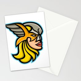 Valkyrie Warrior Mascot Stationery Cards