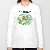 theatre Long Sleeve T-shirts featuring Theatre Mouse by Rebecca Rogers