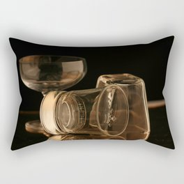 Glasses in Gold Tones Rectangular Pillow
