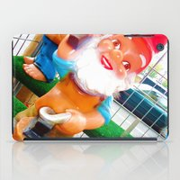 gnome iPad Cases featuring Gnome Lover by Cristhian Arias-Romero