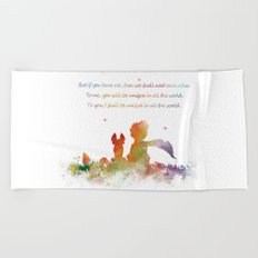 Little Prince Fox Beach Towel